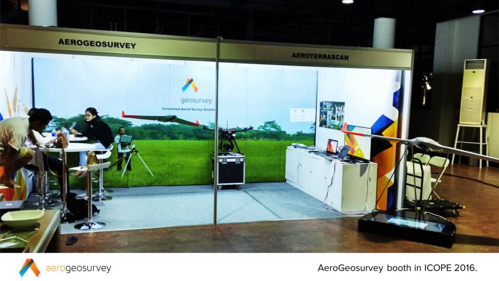 AeroGeosurvey booth in ICOPE 2016.